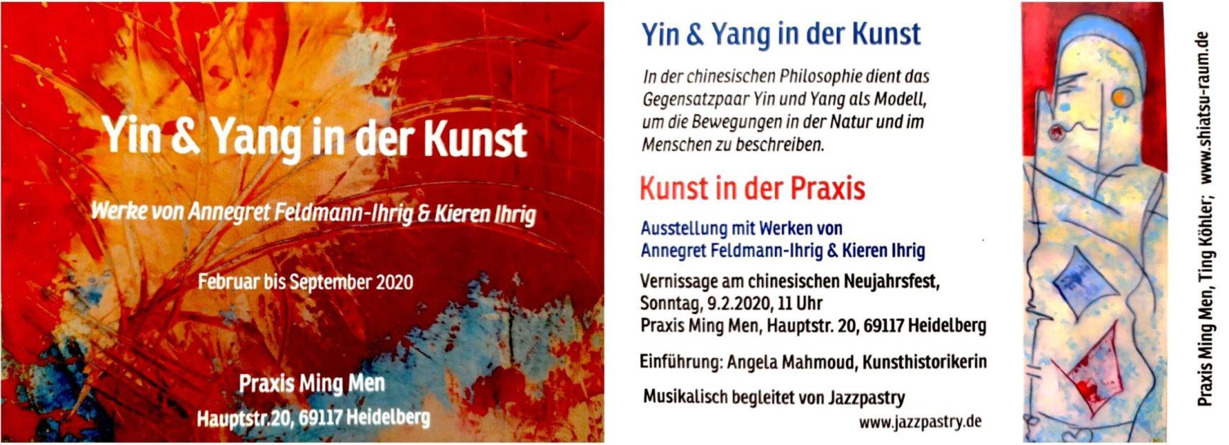 Einladung Vernissage Yin & Yang in der Kunst - Annegret Feldmann-Ihrig, Kieren Ihrig -